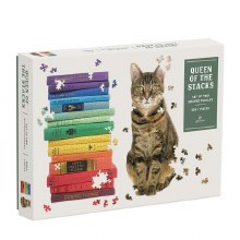 Queen of the Stacks Set of 2 Shaped Puzzles 650+ Pieces