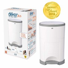 Dekor Plus Hands Free Diaper Pail in White