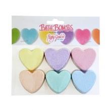 Mini Heart Bath Bombs- 6 Pack