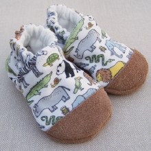Snow and Arrow Organic Cotton Slippers Animals