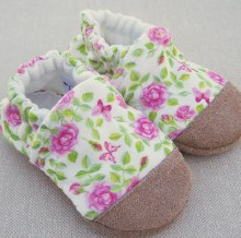 Snow and Arrow Organic Cotton Slippers Spring Rose