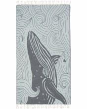 Sand Cloud Towel Blue Swirl Waves Whale
