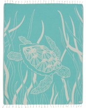 Sand Cloud Large Towel Mint Turtle Seagrass