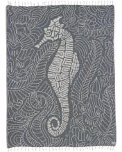 Sand Cloud Large Towel Seahorse Swirl