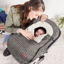 Skip Hop Stroll 'N Go Car Seat Cover in Grey Feather