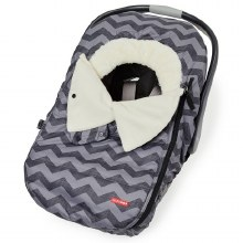 Skip Hop Stroll 'N Go Car Seat Cover in Tonal Chevron