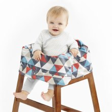 Skip Hop Take Cover Shopping Cart & High Chair Cover-Triangles