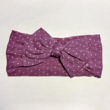 Sugar + Maple Classic Bow Dots Amethyst