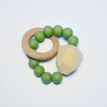 Sugar + Maple Single Ring Teethers Moss