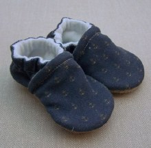 Snow and Arrow Organic Cotton Slippers - Anchors