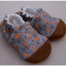 Snow and Arrow Organic Cotton Slippers Foxy