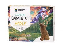 Soapstone Creative Carving Kit Wolf