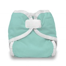 Thirsties Newborn/Preemie Hook and Loop Diaper Cover Aqua
