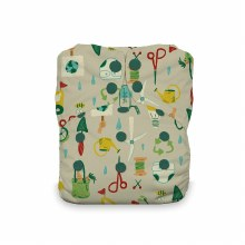 Thirsties Natural One Size All In One Snp Green Scene