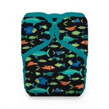 Thirsties Natural One Size Pocket Diaper Snap Fish Tales
