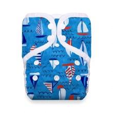Thirsties Natural One Size Pocket Diaper Snap Set Sail