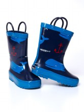 Timbee Nautical Rubber Rain Boots