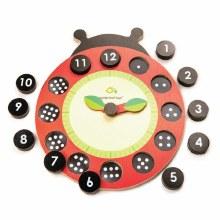 Tender Leaf Toys Ladybug Teaching Clock
