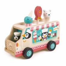 Tender Leaf Toys Penguins Gelato Van