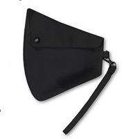 Clip-On Mask Pouch Black