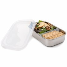 Divided Rectangle Container Clear