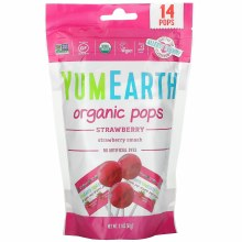 Organic Strawberry Lollipops