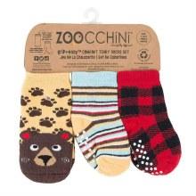 Zoochini 3 Piece Comfort Terry Sock Set Bear