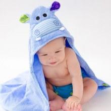 Zoochini Baby Hooded Towel Hippo