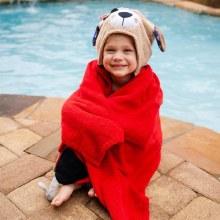Zoochini Kid's Hooded Towel Pirate Dog