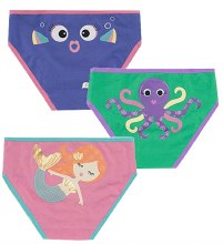 Zoochini Organic Panty 3 Pack Coral Caribe 4T-5T