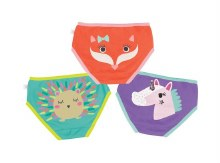 Zoochini Organic Panty 3 Panty Enchanted Forest 2T-3T