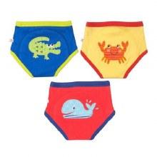 Zoochini Organic Potty Training Pants 3 Pack Ocean Pals 3T-4T
