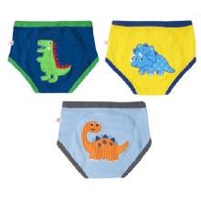 Zoochini Organic Potty Training Pants 3 Pack Jurassic Pals 3-4T
