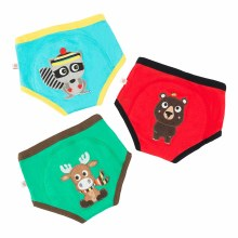 Zoochini Organic Potty Training Pants 3 Pack Forest Chums