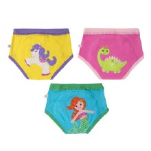 Zoochini Organic Potty Training Pants 3 Pack Fairy Tails 2T-3T