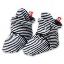 Zutano Candy Stripe Cotton Booties in Black