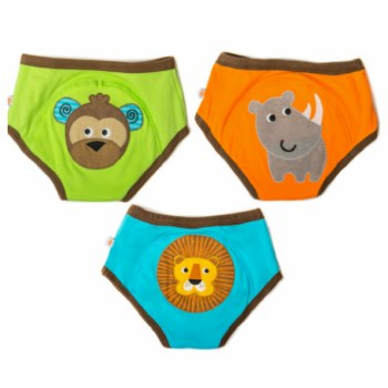 Zoochini Organic Potty Training Pants 3 Pack Safari Pals 2-3T