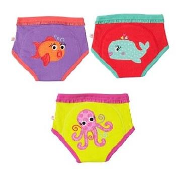 Zoochini Organic Potty Training Pants 3 Pack Ocean Friends 2-3T