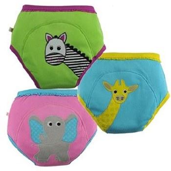 Zoochini Organic Potty Training Pants 3 Pack Safari Friends 3-4T