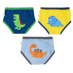 Zoochini Organic Potty Training Pants 3 Pack Jurassic Pals 2-3T