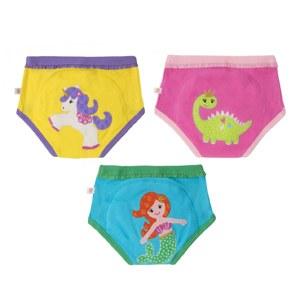 Zoochini Organic Potty Training Pants 3 Pack Fairy Tails 2T-3T