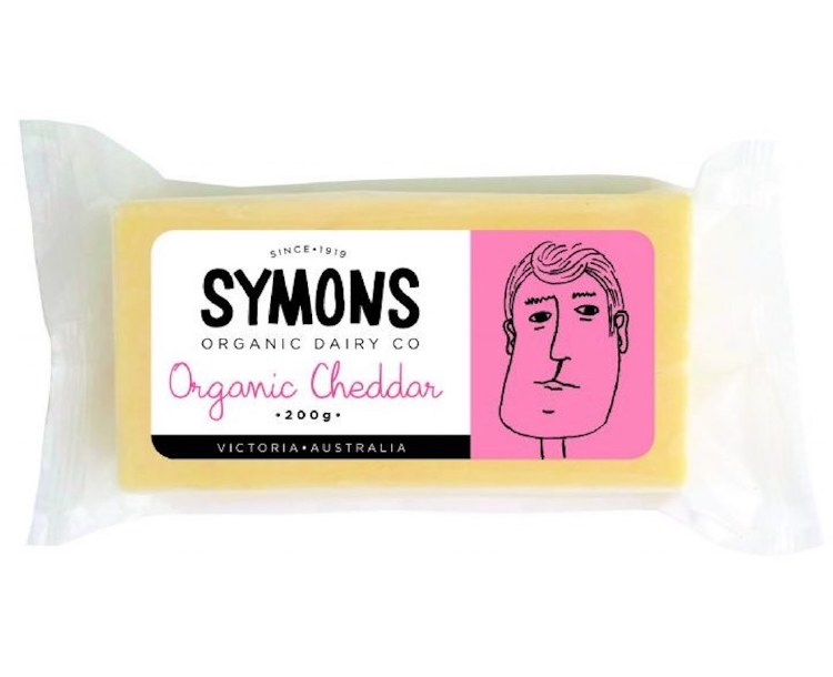 Cheese Cheddar Organic 200gm