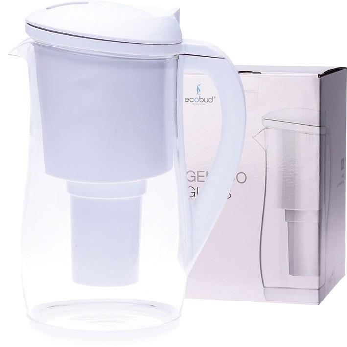 Gentoo Glass Water Filter Jug White