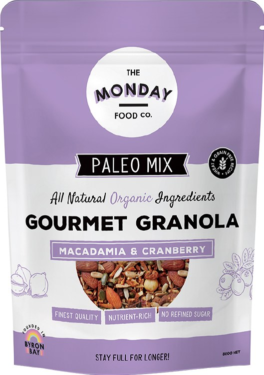 Paleo Granola Macadamia & Cranberry 800gm