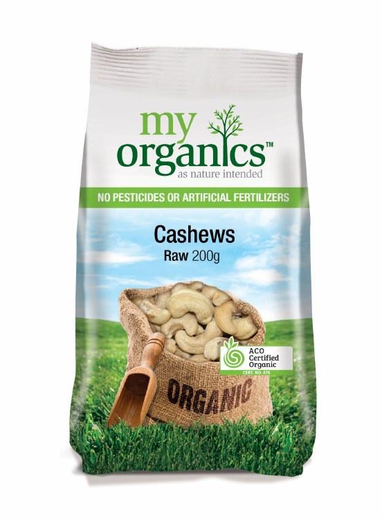Organic Raw Cashew Nuts 200gm