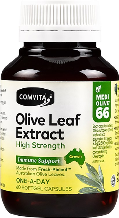 Olive Leaf Extract Capsules (Medi Olive 66) 60 Caps