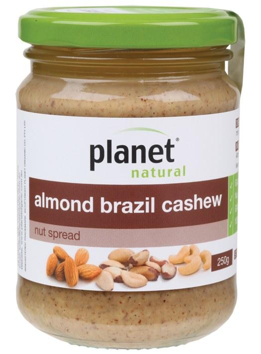 Nut Spread Almond Brazil Cashew 250gm