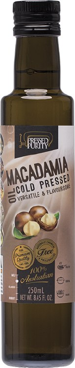 Macadamia Oil Cold Pressed 250ml