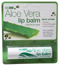 Lip Balm Aloe Vera with Tea Tree & Lysine 4gm