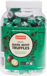 Chocolate Truffles Mint - Bulk Tub 60x12gm